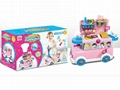 Funny Bus Dessert Toy Set with Light and
