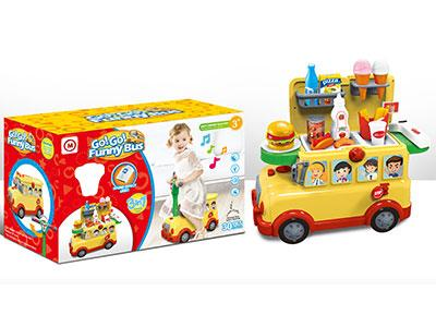 Funny Bus Fast Food Set with Light and Music for Kids 1