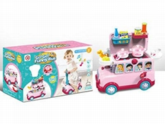 Funny Bus Cooking Toy Set with Light and