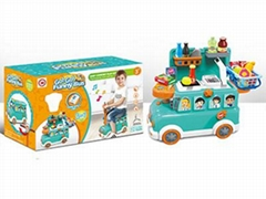 Funny Bus Cash Register Toy Set with