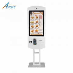 32inch food self order touch kiosk
