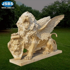 Outdoor Decorative White Running Life Size Lion Statues For Sale