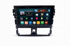 Octa core android car gps for toyota Vios 2014 2015 2016
