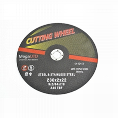 Flat Cutting Wheel for ferrous metal and stainless steel cutting