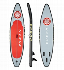 PVC Inflatable Stand up Paddle Surfboard with  non-slip EVA pad