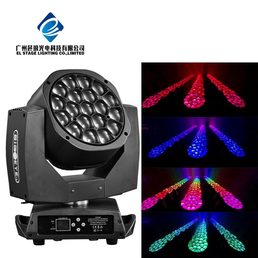 19*15w big bee eye led moving head light high power led stage  2