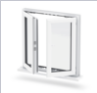 European standard double aluminum alloy window