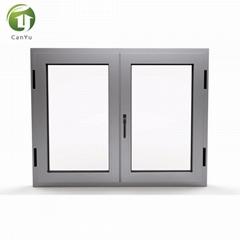 Modern design aluminum casement window from china factory
