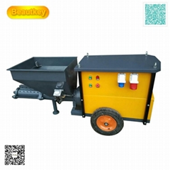 Mortar spraying machine for wall painting spray gun