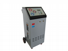 Full automatic r134a refrigerant charging recovering vacuuming equipment
