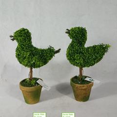 Christmas Decoration Bonsai Birds PE Artificial Green Plants