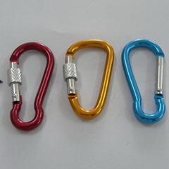 供應高檔帶鎖D型不鏽鋼登山扣