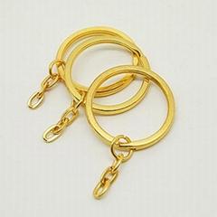 供应高档挂电金色纯铜钥匙圈