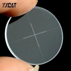 943 DIV 0.05mm Cross Microscope Micrometer Ocular Reticle Precise Optical Glass