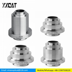 0.35X 0.55X 0.7X 1X Relay Lens Microscope Camera C-mount Adapter for Leica