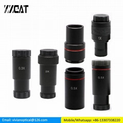 0.5X C Mount Microscope Adapter 23.2mm Electronic Eyepiece Reduction Lens