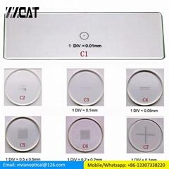 C1-C7 Optical Glasses Microscope Calibration Slide Reticle Scale Ruler Precise M