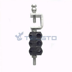 Optic fiber clamp for fiber cable power cable double type 6 holes