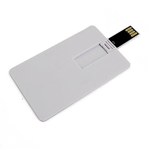USB 2.0 Flash Drive Plastic White Credit Bank Card Shaped 1