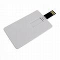 USB 2.0 Flash Drive Plastic White Credit