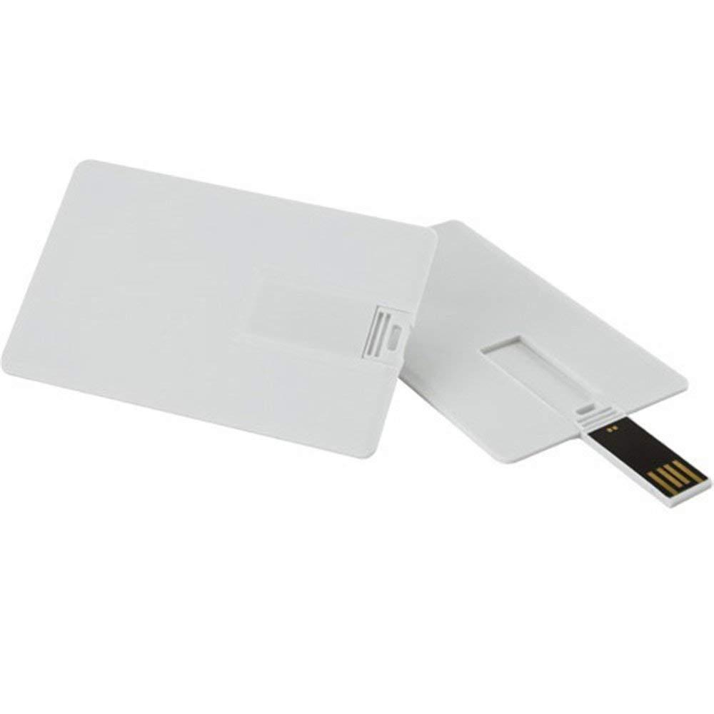 USB 2.0 Flash Drive Plastic White Credit Bank Card Shaped 5