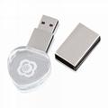USB 2.0 LED Light Flash Drive Crystal