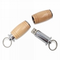Wooden Wine Barrel Shaped Flash Drive