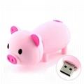 Pink Piggy Shape USB 2.0 Flash Drive
