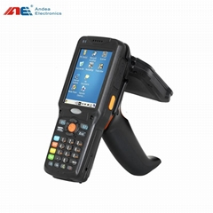 Android OS hf handheld rfid reader with barcode QR code scanner