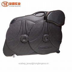 ABS Bike Case for Mountain Road Bicycle Travel Transport Case Black