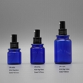 70cc blue PETG plastic spray liquid round perfume cosmetic bottle 2
