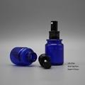 70cc blue PETG plastic spray liquid round perfume cosmetic bottle 4