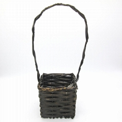 handmade rattan flower basket for garden&home