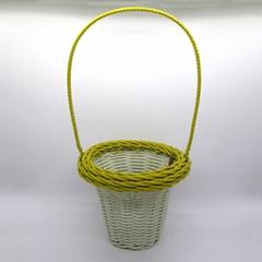 handmade rattan flower basket for garden&home