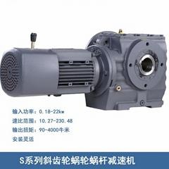 S系列斜齒輪蝸輪蝸杆減速機(大速比)