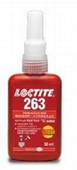 樂泰紅色耐油型高強度螺絲鎖固膠 LOCTITE 263