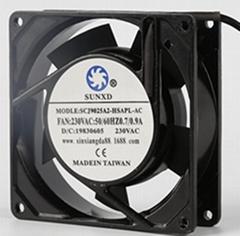 Cooling Axial Flow Fan Ball Bearing 90mm  9025