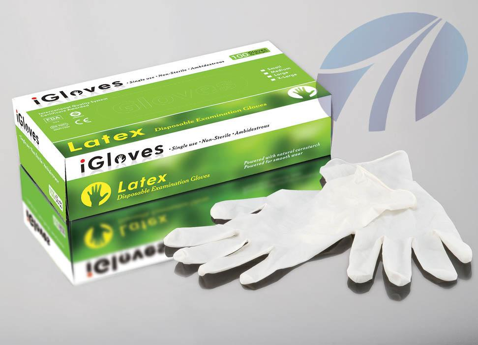 Malaysia Latex gloves powder disposable gloves with 24 hours service 1