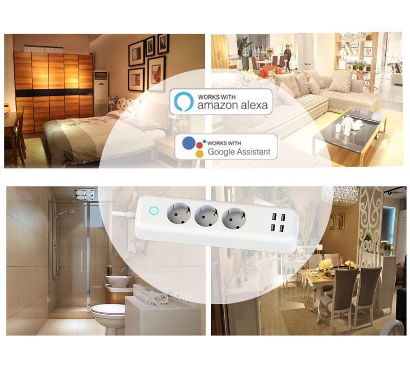 Larkkey Smart Home Alexa Wifi Extension Socket 3