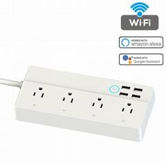 Larkkey Smart Home Alexa Wifi Smart Power Strip With USB Ports