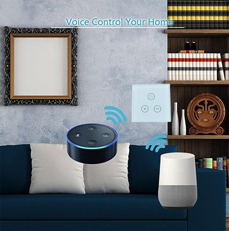 Larkkey Smart Home Alexa EU UK Wifi Smart Dimmer Light Switch 3
