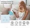 Larkkey Smart Home Alexa EU UK Wifi Smart Dimmer Light Switch 4
