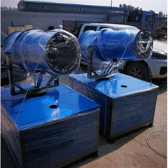 陕西工地料场专用固定式降尘温雾炮喷雾机