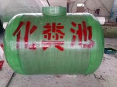 廠家直銷成品玻璃鋼化糞池100立方50立方