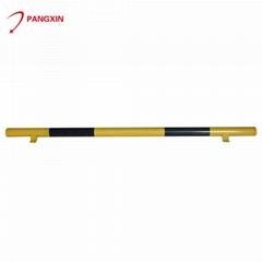 Car stopper steel pole security wheel stopper single tube parking stopper