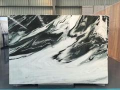China Panda white marble polished tiles