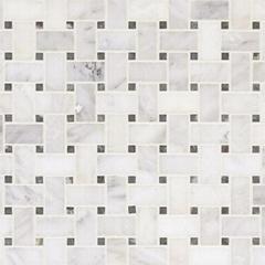Marble basketweave mosaic floor tiles wall tile