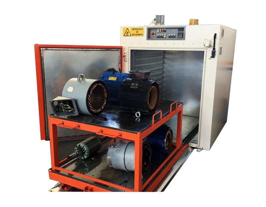 Batch Ovens for Electric Motors - Industrial Batch Ovens by Idrocalor 1