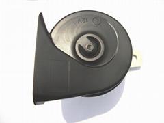 Single snail car horn