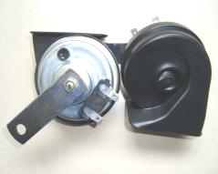 Double snail car horn